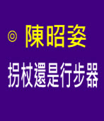 拐杖還是行步器∣◎ 陳昭姿|台灣e新聞