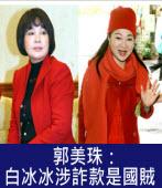 郭美珠:白冰冰涉詐款是國賊|台灣e新聞