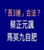 「吾3連」合法?蔡正元諷馬英九自肥|台灣e新聞