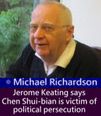Scholar Jerome Keating says Chen Shui-bian is victim of political persecution