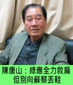 陳唐山:綠應全力救扁 但別向蘇蔡丟鞋∣台灣e新聞