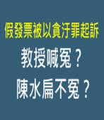 假發票被以貪汙罪起訴教授喊冤?陳水扁不冤?∣台灣e新聞