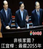 非核家園? 江宜樺:「最遲2055年」,2025年說法是「不負責任」 ∣台灣e新聞