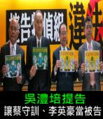 吳澧培提告 讓法官蔡守訓、李英豪當被告 ∣台灣e新聞