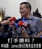 打手爆料? 林瑞圖:James索6百萬美金安家費 ∣台灣e新聞