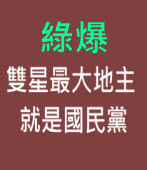 綠爆雙星最大地主 就是國民黨∣台灣e新聞