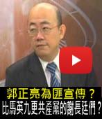 郭正亮為匪宣傳?比馬英九更共產黨的謝長廷們∣台灣e新聞