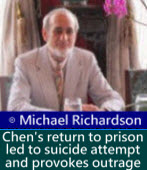 Michael Richardson: Chen Shui-bian's return to prison led to suicide attempt and provokes outrage