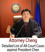 Detailed List of All Court Cases against President Chen