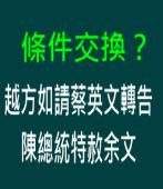 條件交換? 越方如請蔡英文轉告陳總統特赦余文  ∣台灣e新聞