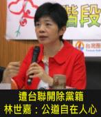遭台聯開除黨籍 林世嘉:公道自在人心 -台灣e新聞