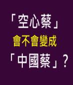 「空心蔡」會不會變成「中國蔡」?-台灣e新聞