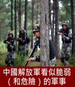 中國解放軍看似脆弱(和危險)的軍事-台灣e新聞