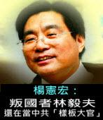 叛國者林毅夫還在當中共「樣板大官」-◎楊憲宏 -台灣e新聞