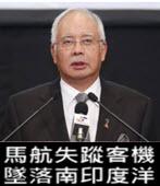 馬航失蹤客機 墜落南印度洋 - 台灣e新聞