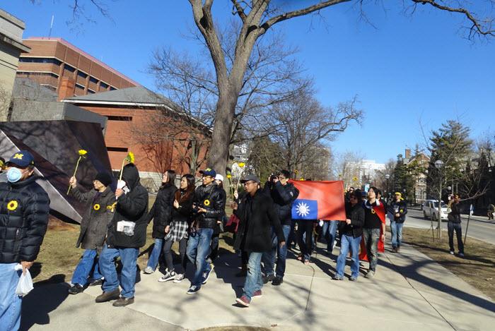 在密西根大學校區舉行示威集會/遊行 UM campus