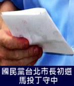 國民黨台北市長初選 馬投丁守中-台灣e新聞