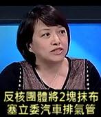 記者爆: 反核團體將2塊抹布塞立委汽車排氣管-台灣e新聞
