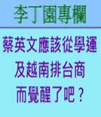 蔡英文應該從學運及越南排台商而覺醒了吧 ? -◎李丁園-台灣e新聞