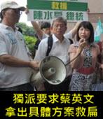 獨派要求蔡英文拿出具體方案救扁-台灣e新聞