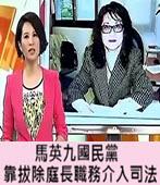 馬英九國民黨靠拔除庭長職務介入司法  - 台灣e新聞