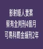 影射睡人妻案 蔡有全判刑4個月,可易科罰金緩刑2年- 台灣e新聞