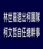 林世嘉退出柯團隊 柯文哲自任總幹事-台灣e新聞