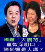 國難「大腸花」 董智深粗口:陳菊還是人嗎?-民報 記者唐詩 - 台灣e新聞