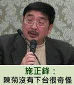 施正鋒:陳菊沒有下台很奇怪- 台灣e新聞