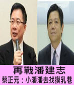 再戰潘建志 蔡正元:小潘潘去找摸乳巷-台灣e新聞