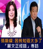 TVBS「麗文正經話」專訪張顯耀: 因我知道太多了 - 台灣e新聞