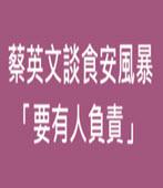 蔡英文談食安風暴 「要有人負責」-台灣e新聞