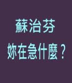 蘇治芬妳在急什麼?-台灣e新聞