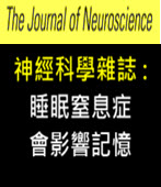 神經科學雜誌 : 睡眠窒息症會影響記憶-台灣e新聞