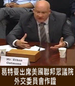 資深記者葛特曼出席美國聯邦眾議院外交委員會作證 - 台灣e新聞