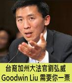 台裔加州大法官劉弘威Goodwin Liu需要你一票 - 台灣e新聞