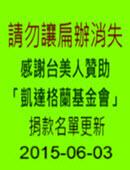 感謝台美人贊助「凱達格蘭基金會」請勿讓扁辦消失|台灣e新聞