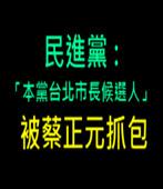民進黨:「本黨台北市長候選人」 被蔡正元抓包- 台灣e新聞