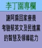 讓阿扁回家療養考驗蔡英文及民進黨的智慧及領導能力  -◎李丁園- 台灣e新聞