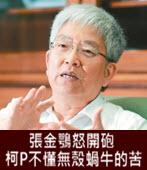 張金鶚怒開砲 柯P不懂無殼蝸牛的苦- 台灣e新聞