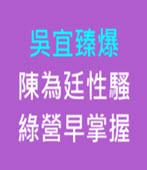 吳宜臻爆陳為廷性騷綠營早掌握-台灣e新聞