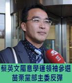蔡英文屬意學運領袖參選 苗栗黨部主委反彈 -台灣e新聞