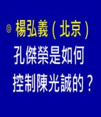 孔傑榮是如何控制陳光誠的?-作者:楊弘義(北京)-台灣e新聞