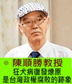 狂犬病復發燎原是台灣政權腐敗的跡象 -◎陳順勝-台灣e新聞