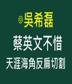 蔡英文不惜天涯海角反扁切割  -◎吳希磊 - 台灣e新聞