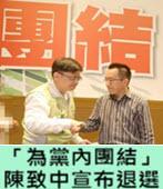 「為黨內團結」 陳致中宣布退選 - 台灣e新聞