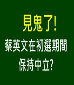 見鬼了! 蔡英文在初選期間保持中立? - 台灣e新聞