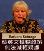 施藍琪:蔡英文模糊政策無法減輕疑慮 - 台灣e新聞