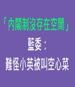 「內閣制沒存在空間」 藍委:難怪小英被叫空心菜-台灣e新聞