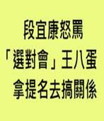 段宜康怒罵「選對會」王八蛋 拿提名去搞關係-台灣e新聞